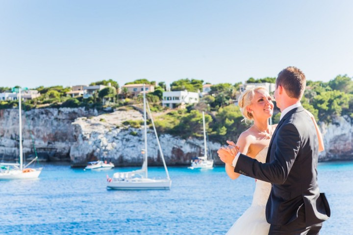After Wedding Shoot auf Mallorca - Cala Santanyi