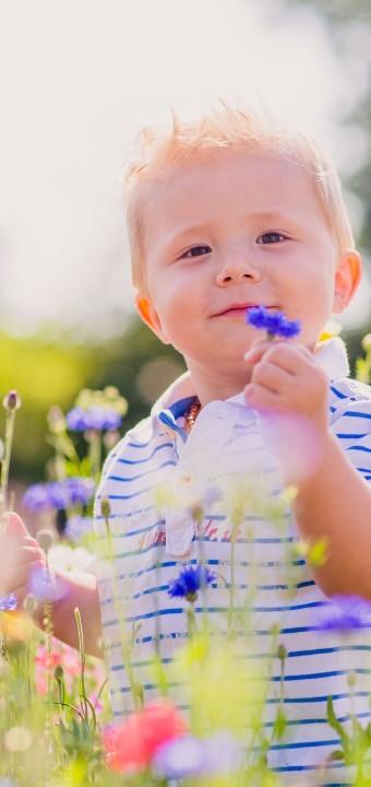 Babybauchfotos und Kinderfotos an einem schönen Sommertag