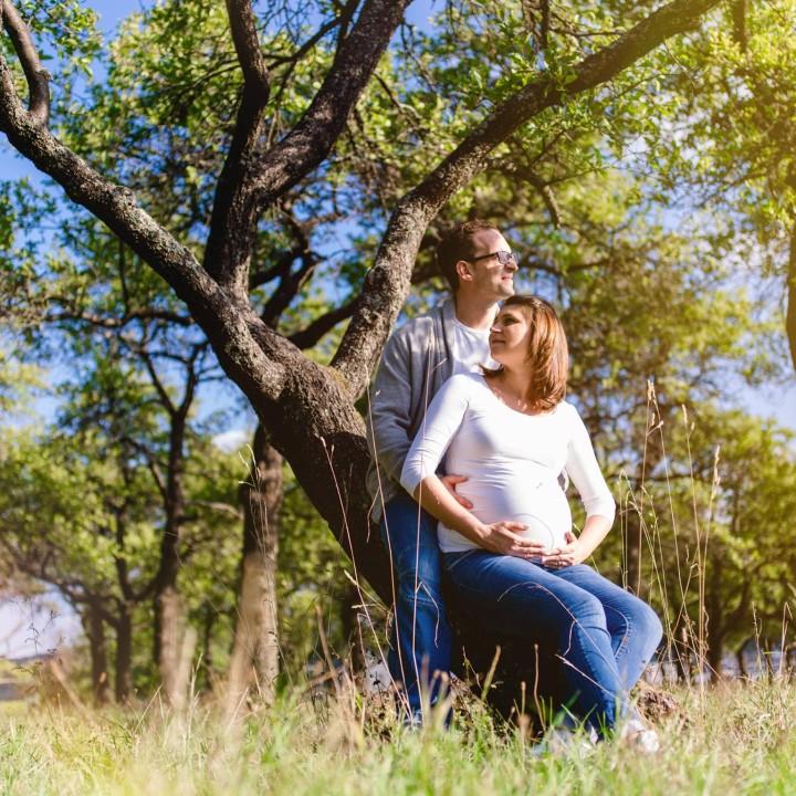 Schwangerschaftsfotos in der Natur