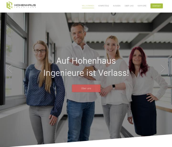 Businessfotografie für die Webseite der Hohenhaus Ingenieure