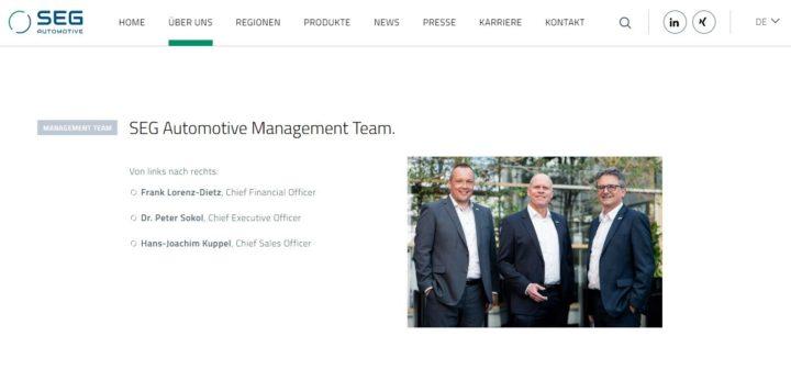 Vorstandsportraits für SEG Automotive